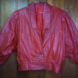 Argenpell Argentina Vintage Jacket Red Leather